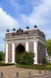 古老荷兰城市门Koepoort在米德尔堡 库存图片