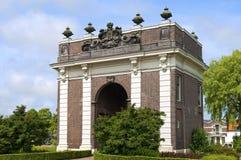 古老荷兰城市门Koepoort在米德尔堡 库存照片