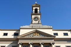 古老荷兰市政厅特写镜头在多德雷赫特 免版税库存照片