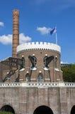 古老荷兰泵站Cruquius,海姆斯泰德 免版税库存照片