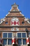 古老荷兰语在恩克赫伊森称房子 免版税库存图片