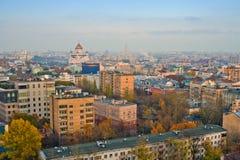 古老莫斯科顶房顶视图 免版税图库摄影
