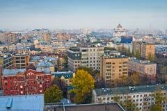 古老莫斯科顶房顶视图 免版税库存照片