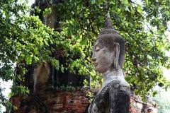 古老菩萨沙子石头雕象 免版税库存照片
