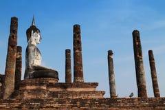 古老菩萨雕塑 免版税库存照片