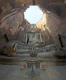古老菩萨雕象。 免版税库存图片
