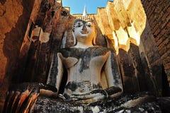 古老菩萨雕象。Sukhothai历史公园 库存图片