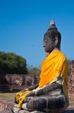 古老菩萨雕象, Ayudhaya 免版税库存照片