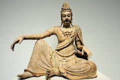 古老菩萨雕象 免版税库存图片