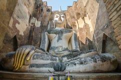 古老菩萨雕象 Sukhothai历史公园, Sukhothai Prov 库存图片