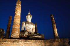 古老菩萨雕象 Sukhothai历史公园, Sukhothai Prov 免版税库存照片