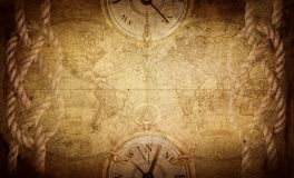 古老葡萄酒冒险背景 科学,教育,旅行,葡萄酒背景 历史和地理队 免版税库存图片