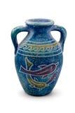 古老蓝色花瓶 库存照片