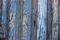 古老蓝色门从19世纪 图库摄影