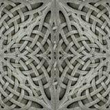 古老蔓藤花纹石头装饰品 免版税库存图片