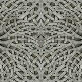 古老蔓藤花纹石头装饰品 免版税库存照片