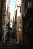古老街道在克罗地亚 图库摄影