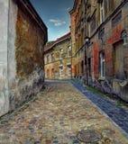 古老街道在维尔纽斯老镇 免版税库存照片
