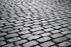 古老街道的块路面。 免版税库存图片