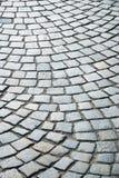 古老街道的块路面。 免版税图库摄影