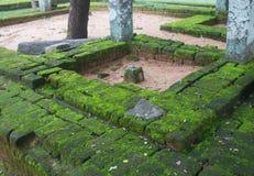 古老街道的看法在考古学的 免版税库存图片