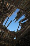 古老被中断的屋顶 免版税库存图片