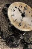 古老被中断的时钟 库存图片