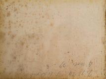 古老被弄脏的纸背景 免版税库存照片