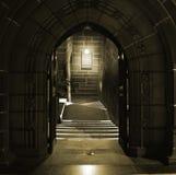 古老被成拱形的编译的门 库存图片