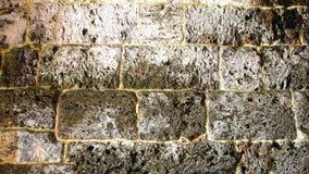 古老被毁坏的和破裂的墙壁 免版税库存照片