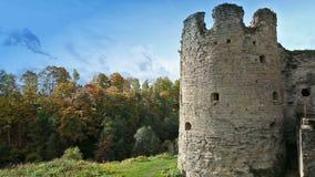 古老被毁坏的堡垒 彼得斯堡 俄国 股票视频