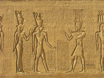 古老被雕刻的埃及象形文字石头 库存照片