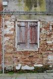 古老被破坏的墙壁 免版税库存图片