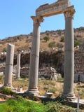 古老被破坏的希腊城市 图库摄影