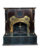 古老装饰壁炉 库存图片