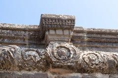 古老西伯来城市Korazim Horazin, Khirbet Karazeh的废墟,毁坏被在4世纪广告的一次地震,在 库存图片
