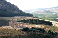古老西西里人的寺庙 免版税库存图片