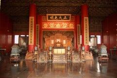 古老观众席中国人皇帝 库存图片