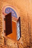古老视窗在斋浦尔 免版税库存照片