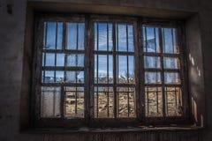 古老设施放弃了阿尔基费矿 免版税图库摄影