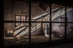 古老设施放弃了阿尔基费矿 库存照片