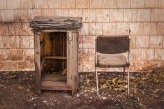 古老设施放弃了阿尔基费矿 免版税库存图片