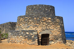 古老设防费埃特文图拉岛 库存图片
