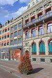 古老豪宅在阿姆斯特丹市中心,荷兰 图库摄影