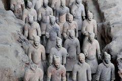 古老赤土陶器战士(联合国科教文组织)在西安,中国 免版税图库摄影