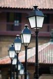 古老路灯柱 免版税库存照片