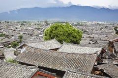 古老达扬lijiang城镇 免版税库存图片