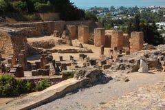 古老迦太基废墟在突尼斯 迦太基是存在了几乎在海湾的3,000年的一个主要市区 免版税图库摄影