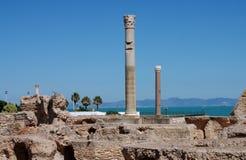 古老迦太基,突尼斯废墟 免版税库存照片