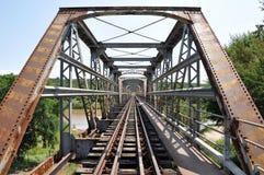 古老铁路桥 免版税库存照片